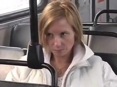 I'm getting nasty in a bus in dilettante porn movie