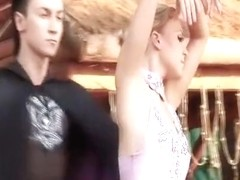 Topless dance show for tourists