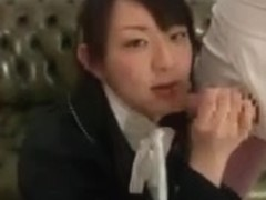 Japanese hotty receives screwed by a bunch of foreigners