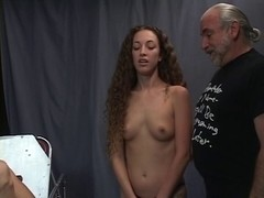 Juvenile blond is tortured in the sadomasochism dungeon by her mature professor