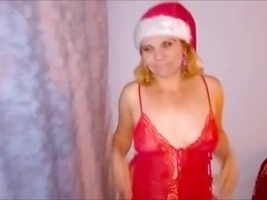 Christmas Blowjob - Close Up Cum In Mouth