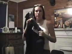 So sexy brunette girlfriend follow orders and accept make this video