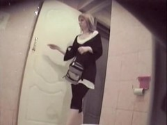 Kinky spy cam video from the toilet