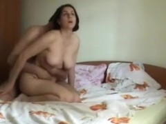 Hairy wife fucking first time after birth