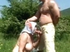 Redhead milf with hairy pussy is screwed by neighbor