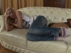 slim golden-haired fuck hard in the face hole