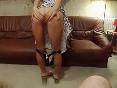 Pretty blonde teases and gets fucked hard