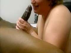 Older cheatign wife milking a bbc in her face aperture
