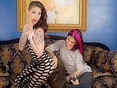 Joanna Angel & Sheena Rose & Seth Gamble in Sheena Rose Does What She Wants Scene
