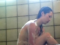 Wonderful Asian boobs and hips in the shower room dvd 03003