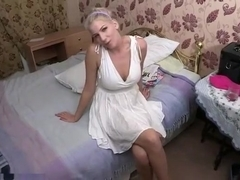 Cute homemade solo clip with me demonstrating my boobies