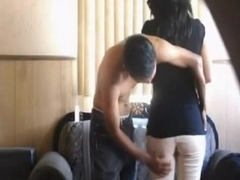 Latina has oral, cowgirl and doggystyle sex.