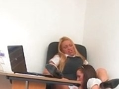 Lesbo Secretaries During the Lunch Time (Hidden Web Camera Fake)