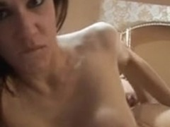 Two French babes take turns fucking this big hard cock