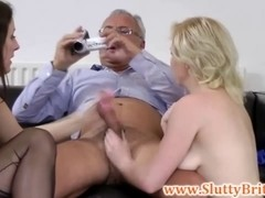 Juvenile brit women pussydrilled by old sir