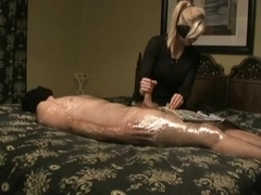 Cook Jerking by a taped Man, during the time that reading a Newspaper.