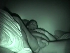 Mature couple night vision sextape with 69 and cowgirl position