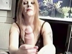 Hand job by a sexy girl
