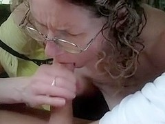 finishing her first dogging cock
