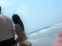My amateur voyeur vid show hot bitches on a beach