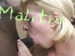 A Black Guy Throat Fucks A White Girl