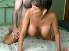 Hawt aged hoe with large love bubbles in dilettante porn