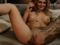 Rubbing my anal hole with a dildo