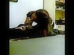 Hot girl blows her bf until he cums