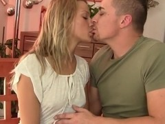 Blonde teen gets nailed