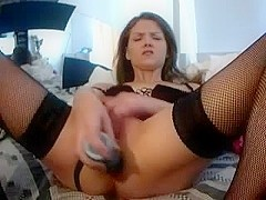 sexy girl playing with her big toys in her ass