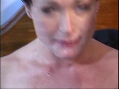 Working angel receives double team drilled