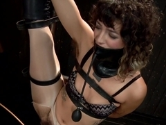 Wild hairy whore gets tamed. Bianca Stone: exotic, flexible treat!