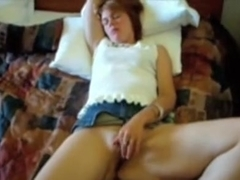 Teasing me with her twat