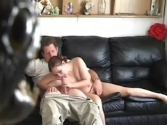 Amateur GF Stripped and Gives Blowjob
