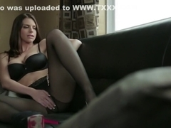 Exotic pornstar Brooklyn Chase in fabulous stockings, dildos/toys adult movie