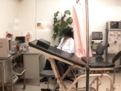 Virgin pussy is fingered very hard at the japanese clinic