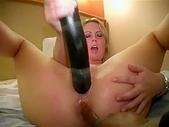 Gangbang, dildo and cum