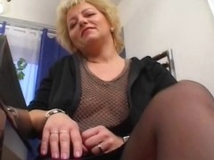 Mature Blonde Sucking Her Guest's Hard Cock
