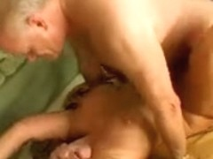 Old and horny busty babe has her way with a big penis