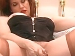 Redhead mother I'd like to fuck fingers her wet wet crack