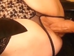 BBW horny mature slut gets her pussy stuffed with toys