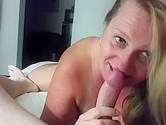 MILF GF Sucking Another Man's Cock