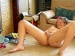 Amateur Wife Rubs One Out On The Floor