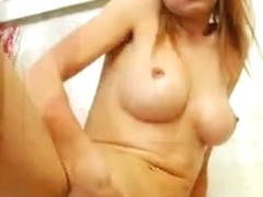 Breasty Hottie Disrobes And Toys Herself