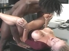 Black monster strapon screwed pleasing golden-haired