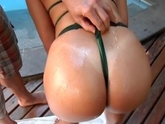 Mayara and Roge Ferro - sex near swimming pool