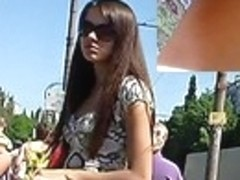 Busy legal age teenager upskirt demonstration
