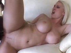 Fucking a busty blonde MILF with a BBC