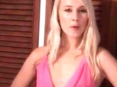 Hot blonde British girl wanking lessons