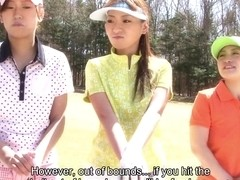 Nana Kunimi in Golf loving hottie Nana Kunimi and her friends get used up - AviDolz